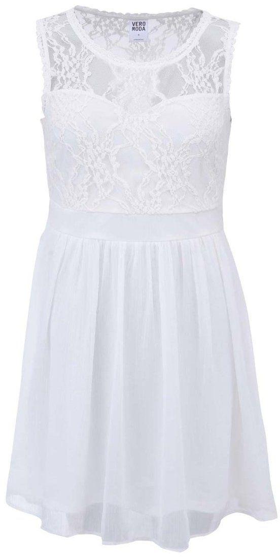 e09697c5bec2 Biele šaty s čipkou Vero Moda Neja značky Vero Moda - Lovely.sk