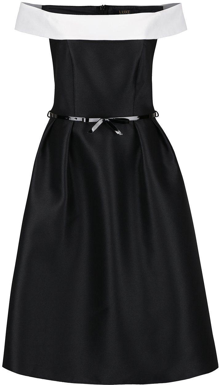 8872573202a0 Krémovo-čierne šaty s lodičkovým výstrihom Dorothy Perkins značky Dorothy  Perkins - Lovely.sk