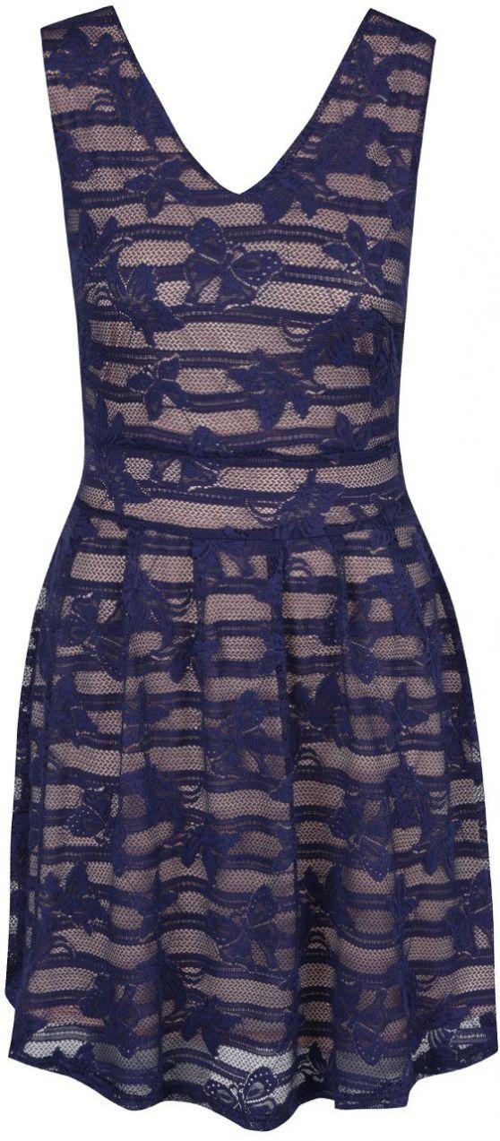 Tmavomodré šaty Mela London značky Mela London - Lovely.sk 4342e15571