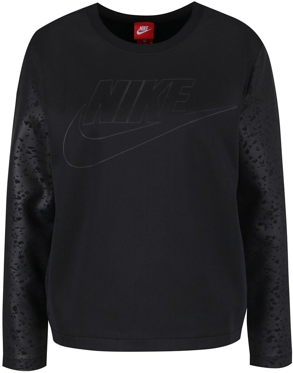 abe0306d4795 Čierna dámska mikina Nike Crew značky Nike - Lovely.sk