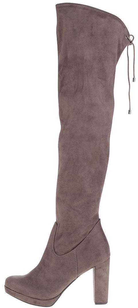 Hnedé vysoké čižmy na nízkom podpätku Tamaris značky Tamaris - Lovely.sk 840dd4f0274