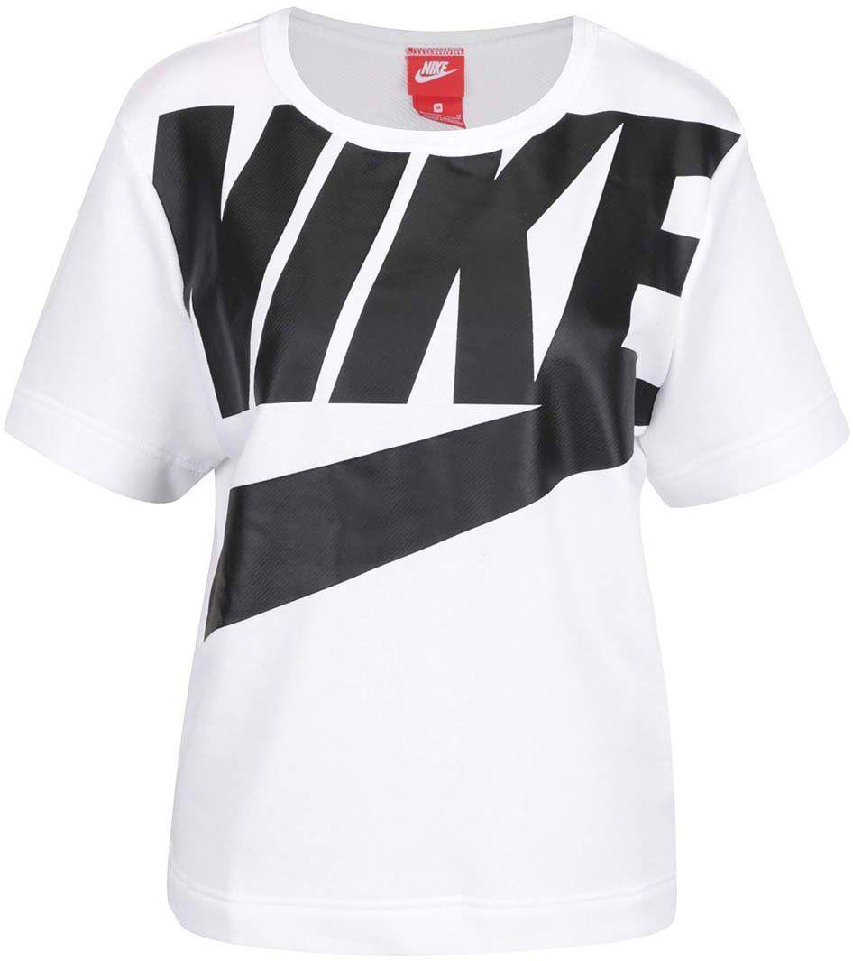 24d388544d9f Biele dámske tričko s čiernou potlačou Nike značky Nike - Lovely.sk
