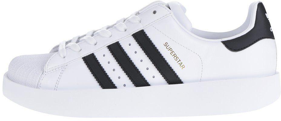 925d18e580 Biele dámske kožené tenisky na platforme adidas Originals Superstar značky  adidas Originals - Lovely.sk