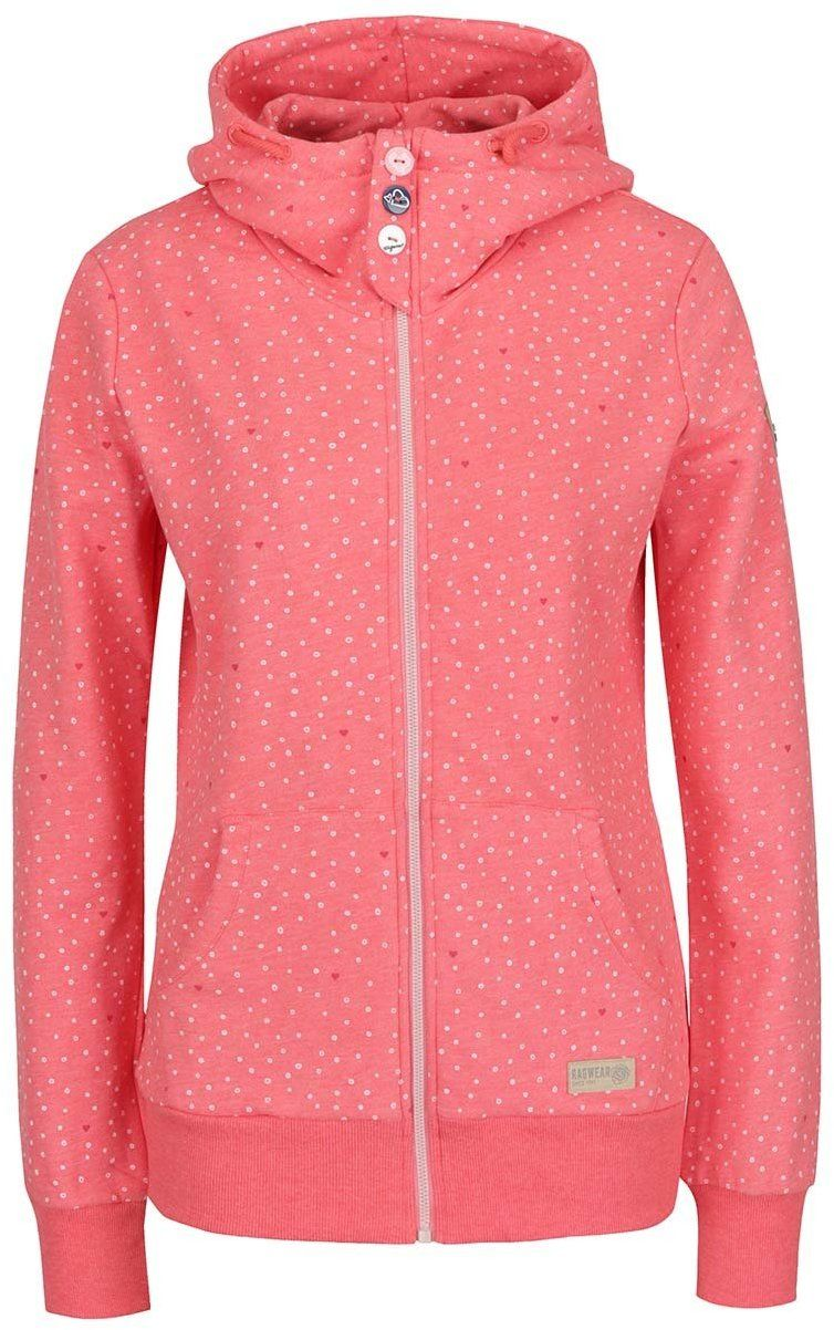 Koralová dámska mikina Ragwear Chelsea Zip A značky Ragwear - Lovely.sk dcb1d2b456e