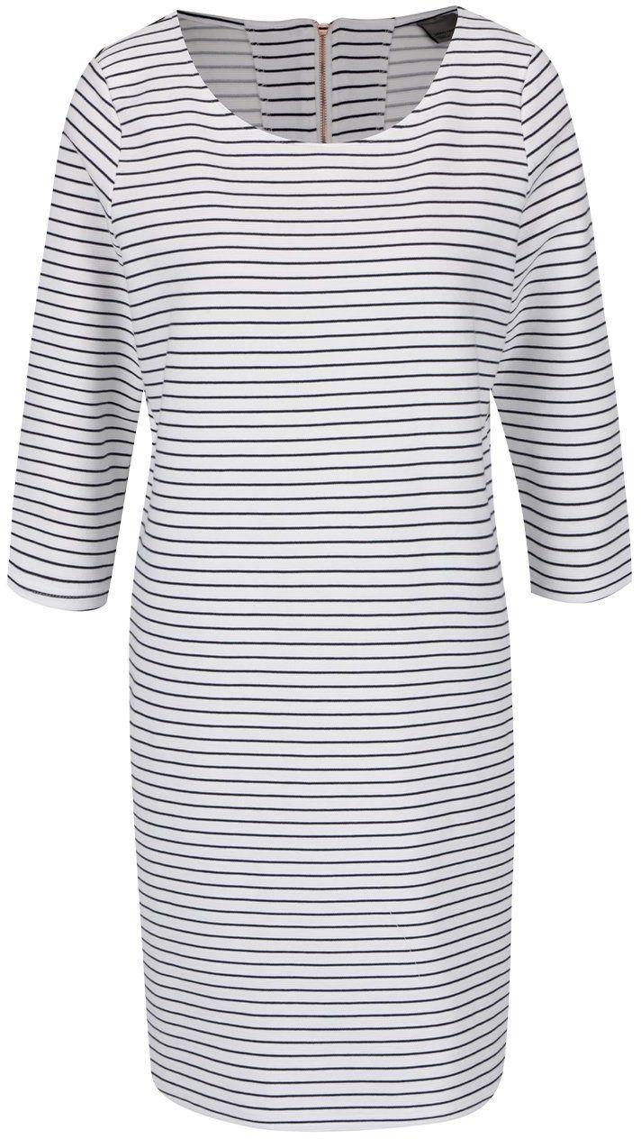 Modro-biele pruhované šaty VERO MODA Ebru značky Vero Moda - Lovely.sk 9535ff3d208