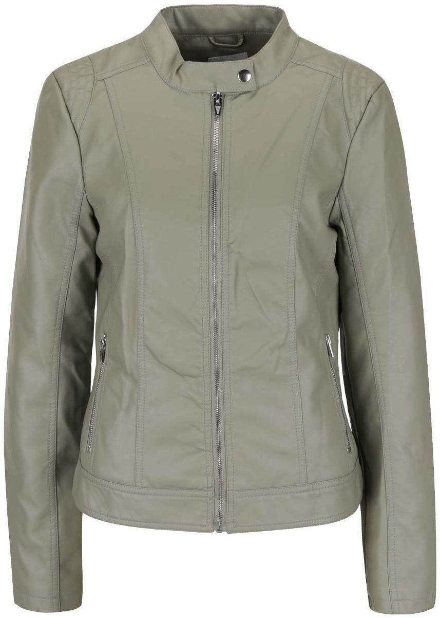 Svetlozelená koženková bunda VILA Aya značky VILA - Lovely.sk 9c3bc02dc56