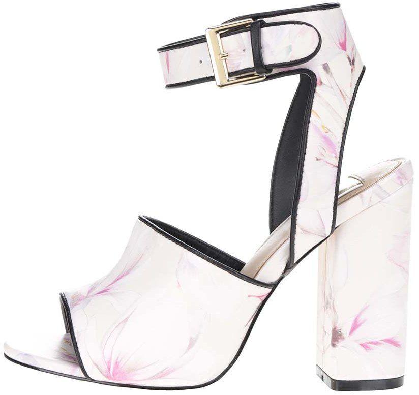 Krémové vzorované sandále na vysokom podpätku Miss Selfridge značky Miss  Selfridge - Lovely.sk 2e44f44c631