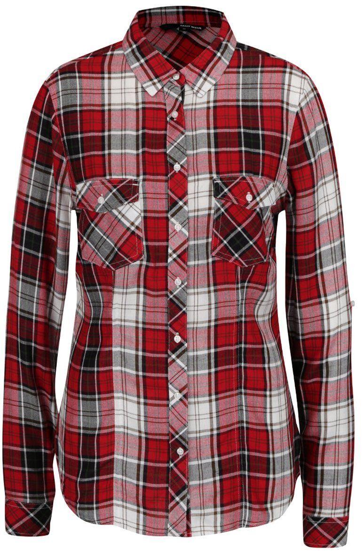 110b4eb35b81 Červená károvaná košeľa s vreckami TALLY WEiJL značky TALLY WEiJL -  Lovely.sk