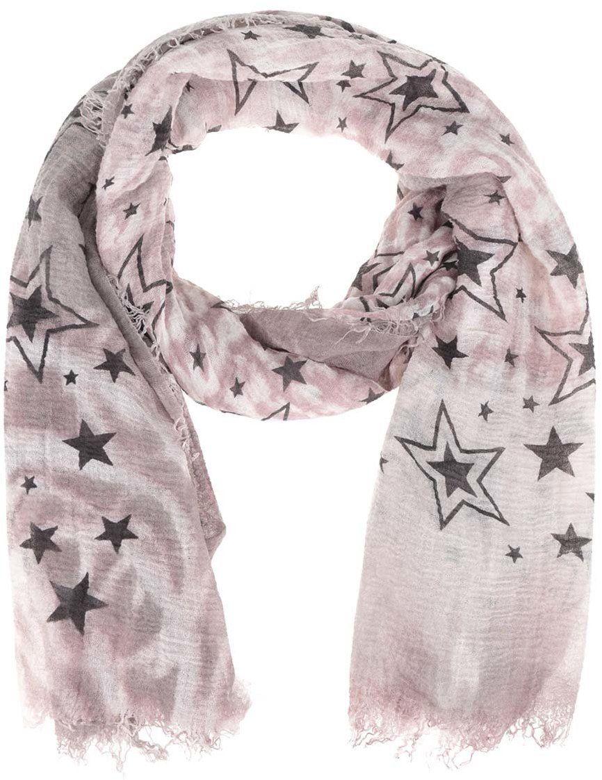 9ed776c41ddb Sivo-ružová šatka s motívom hviezd Haily s Estefania značky Haily´s -  Lovely.sk