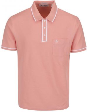 Růžová slim fit polo košeľa Original Penguin Earl