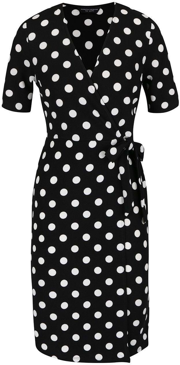 205550947bab Čierne šaty s bielymi bodkami Dorothy Perkins značky Dorothy Perkins -  Lovely.sk