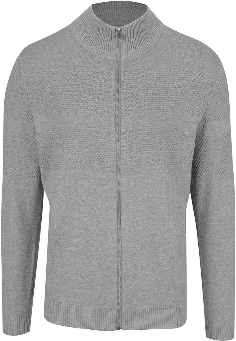 163015f38025 Svetlosivý sveter na zips Selected Homme John značky Selected Homme -  Lovely.sk