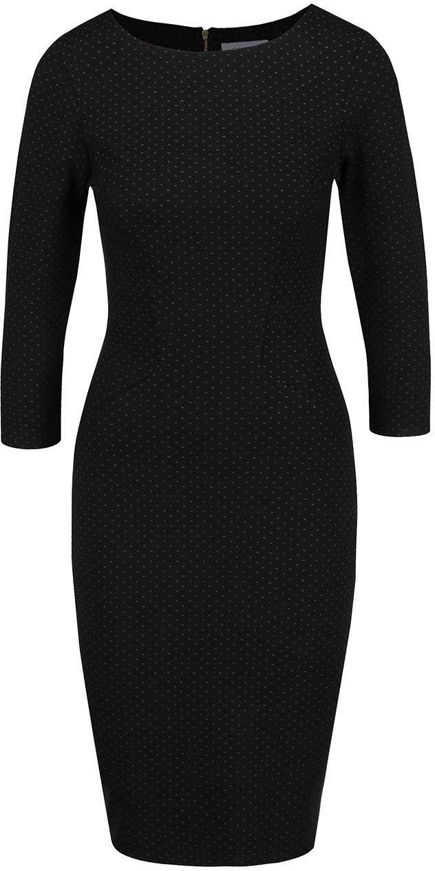 Čierne šaty s jemným vzorom Closet značky Closet - Lovely.sk 60727987fbe