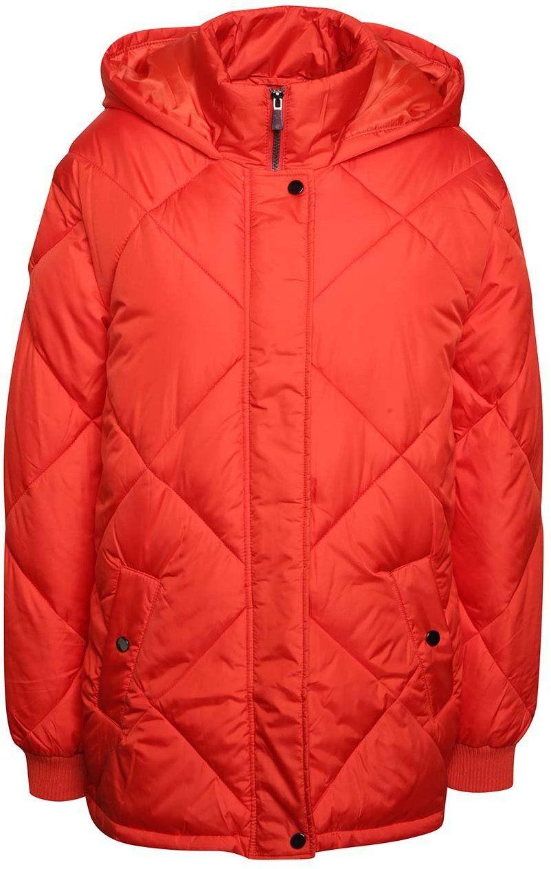 Červená prešívaná bunda s kapucňou Dorothy Perkins značky Dorothy Perkins -  Lovely.sk 88998bfd2e8
