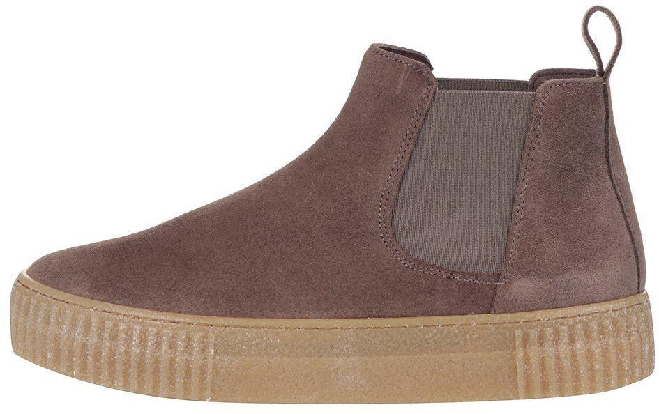 ee4230355eeb Hnedé semišové chelsea topánky na platforme OJJU Serraje značky OJJU -  Lovely.sk
