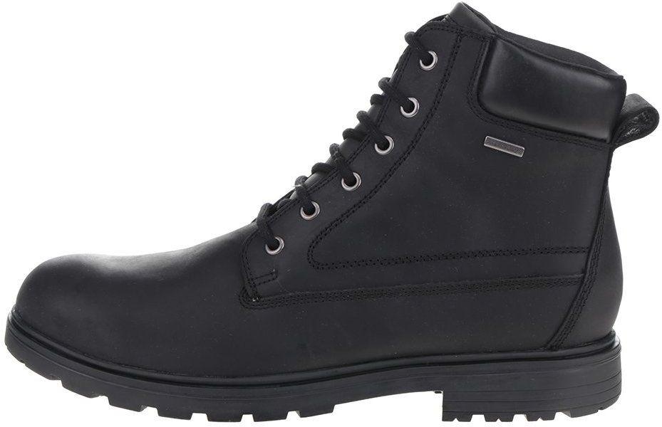 Čierne pánske kožené členkové topánky Geox Akim značky Geox - Lovely.sk bb77ecad583