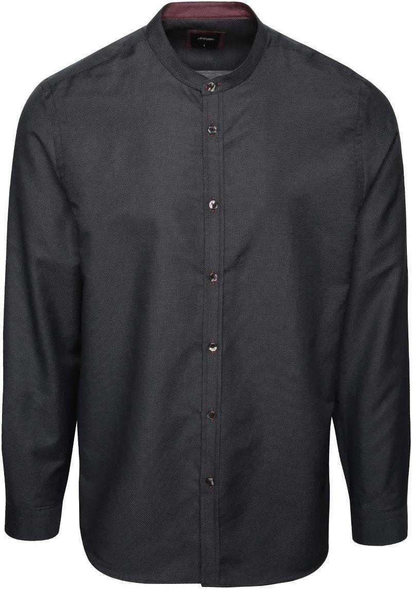 5e0c95dfda77 Čierna bodkovaná košeľa bez goliera Burton Menswear London značky Burton  Menswear London - Lovely.sk