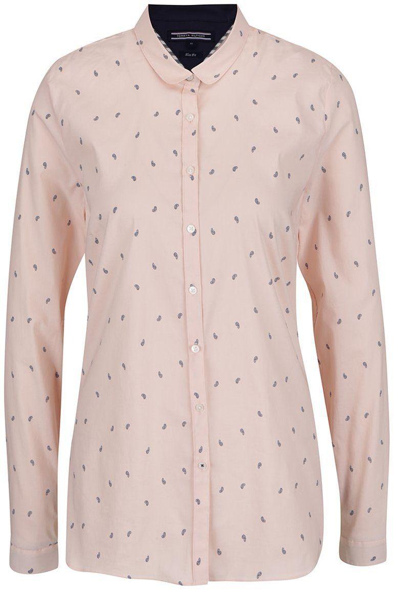 602e07f91e1a Ružová dámska vzorovaná košeľa Tommy Hilfiger značky Tommy Hilfiger -  Lovely.sk