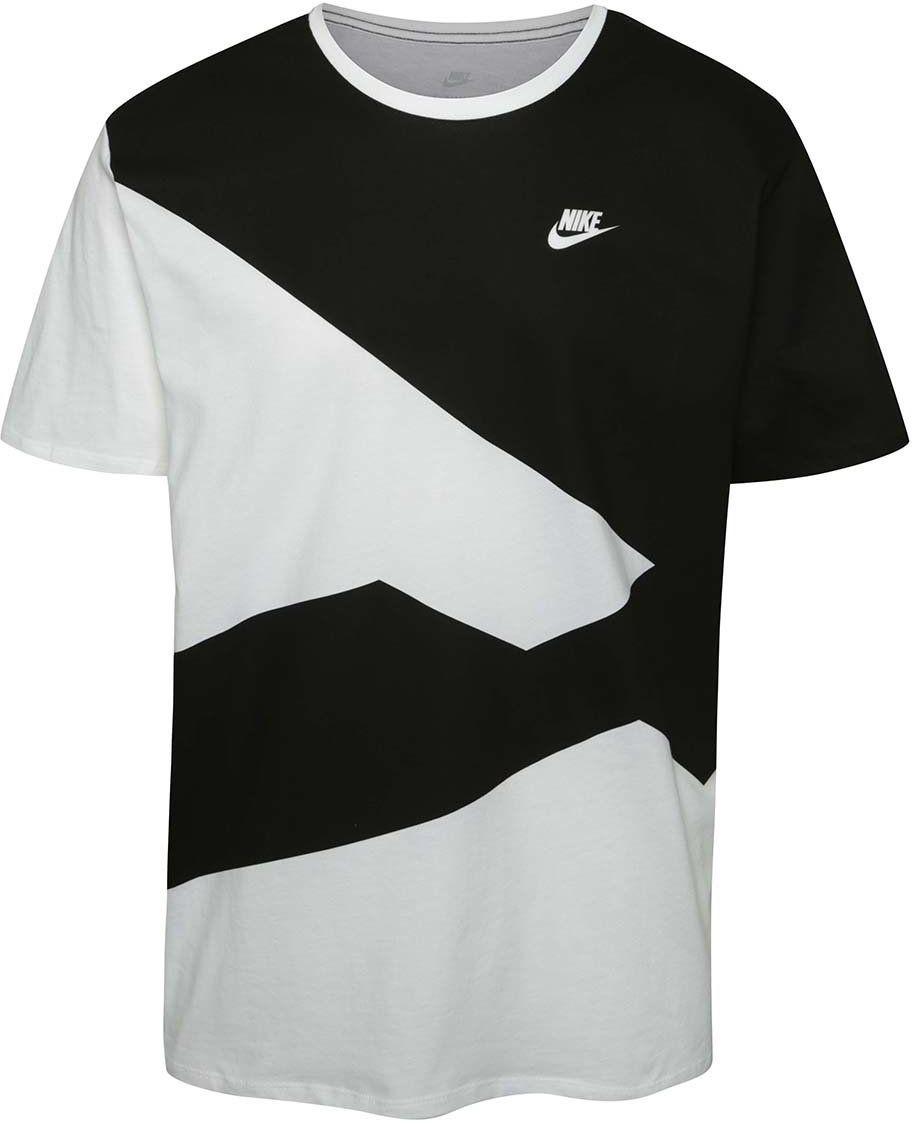 Čierno-biele pánske vzorované tričko Nike značky Nike - Lovely.sk 5ce4d4ae9ff