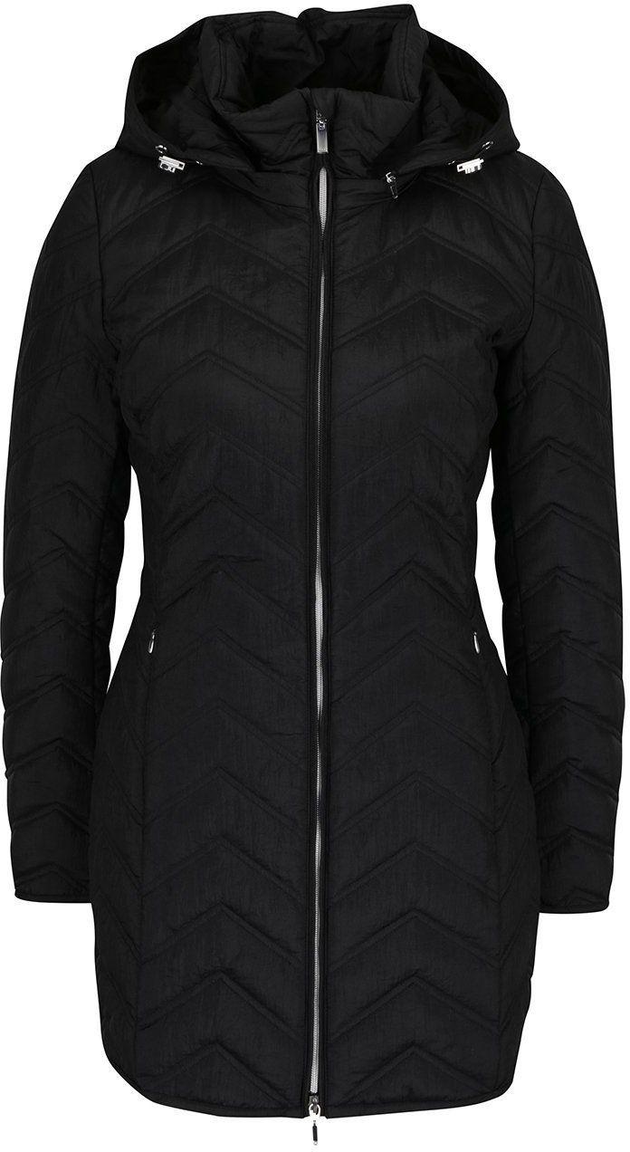 Čierny dámsky funkčný prešívaný kabát s kapucňou Geox značky Geox -  Lovely.sk 902bd2301cd