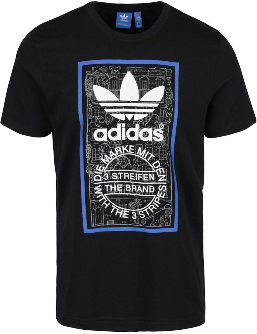 Čierne pánske tričko adidas Originals Brick Tongue značky adidas Originals  - Lovely.sk 892bee9d7ef