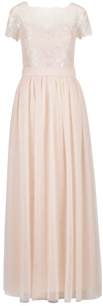 b8956b7bef83 Marhuľové dlhé šaty s čipkovaným topom Little Mistress značky Little  Mistress - Lovely.sk