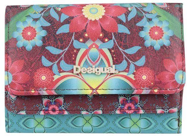 Tyrkysovo-červená kvetovaná peňaženka Desigual Mix Kaitlin značky Desigual  - Lovely.sk 7c2f2266978