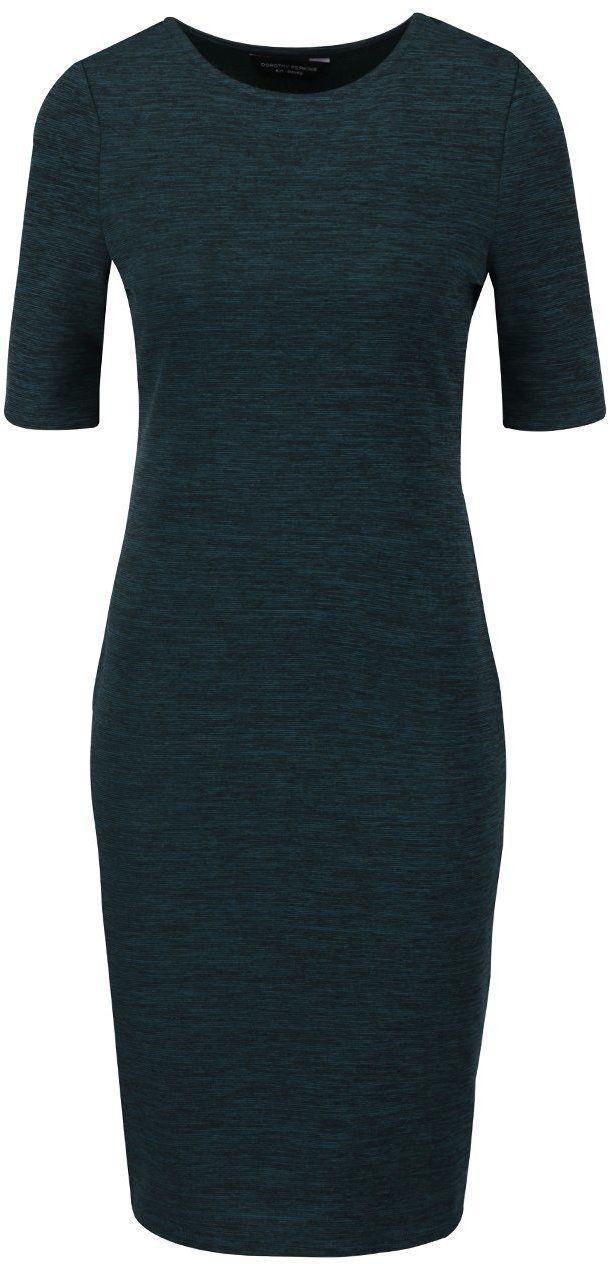 3f1c9b28ae6b Tmavozelené melírované šaty s krátkym rukávom Dorothy Perkins značky  Dorothy Perkins - Lovely.sk