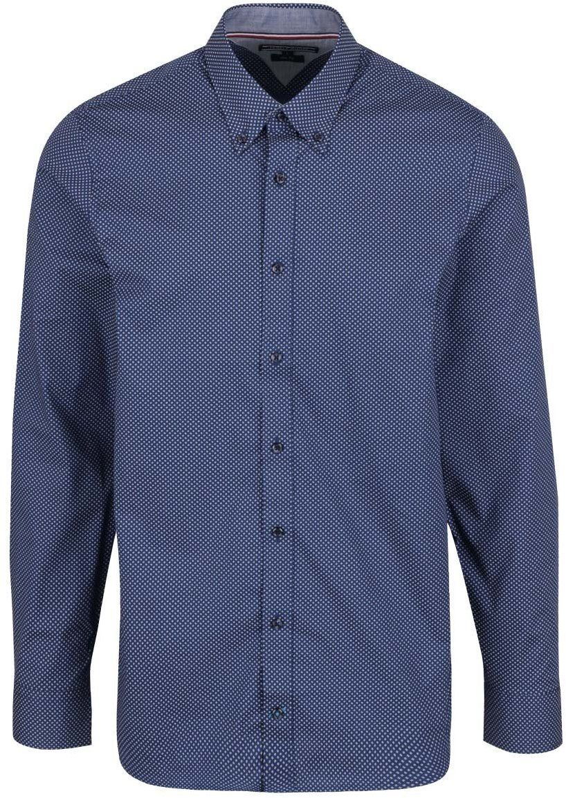 95605f54a3 Bielo-modrá pánska vzorovaná slim fit košeľa Tommy Hilfiger značky Tommy  Hilfiger - Lovely.sk