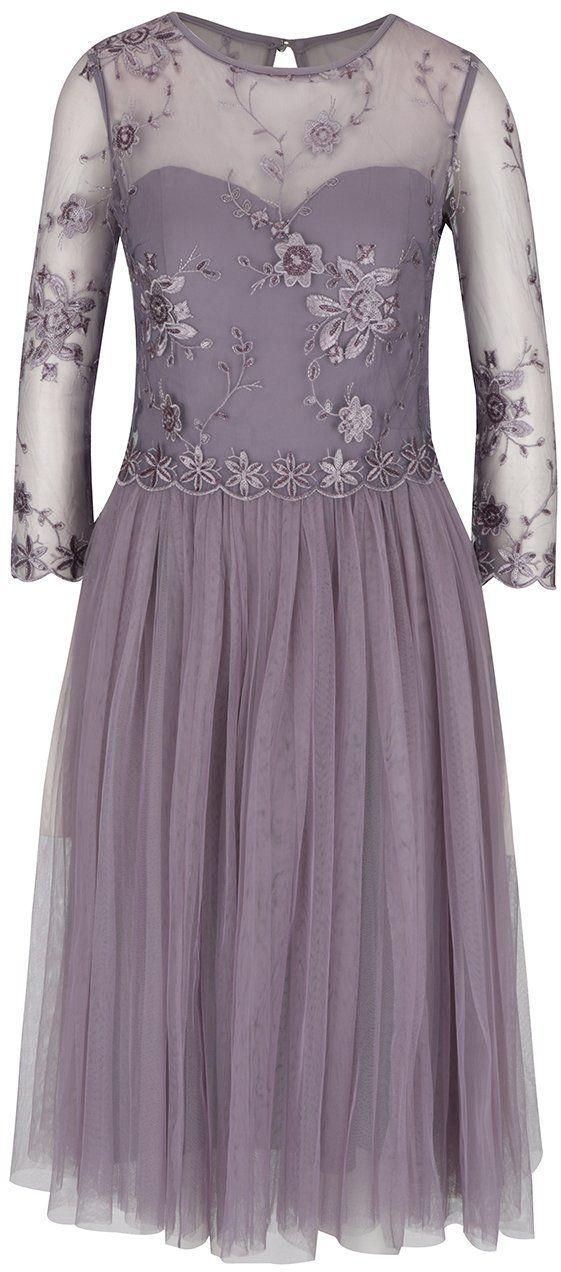 03f25de562b3 Sivé tylové šaty Little Mistress značky Little Mistress - Lovely.sk
