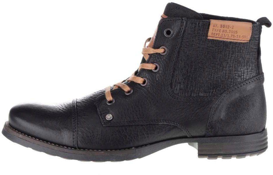 Čierne pánske členkové topánky so vzorom Bullboxer značky Bullboxer -  Lovely.sk 1b46583b04