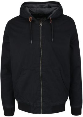 Čierny bomber s kapucňou Jack & Jones High