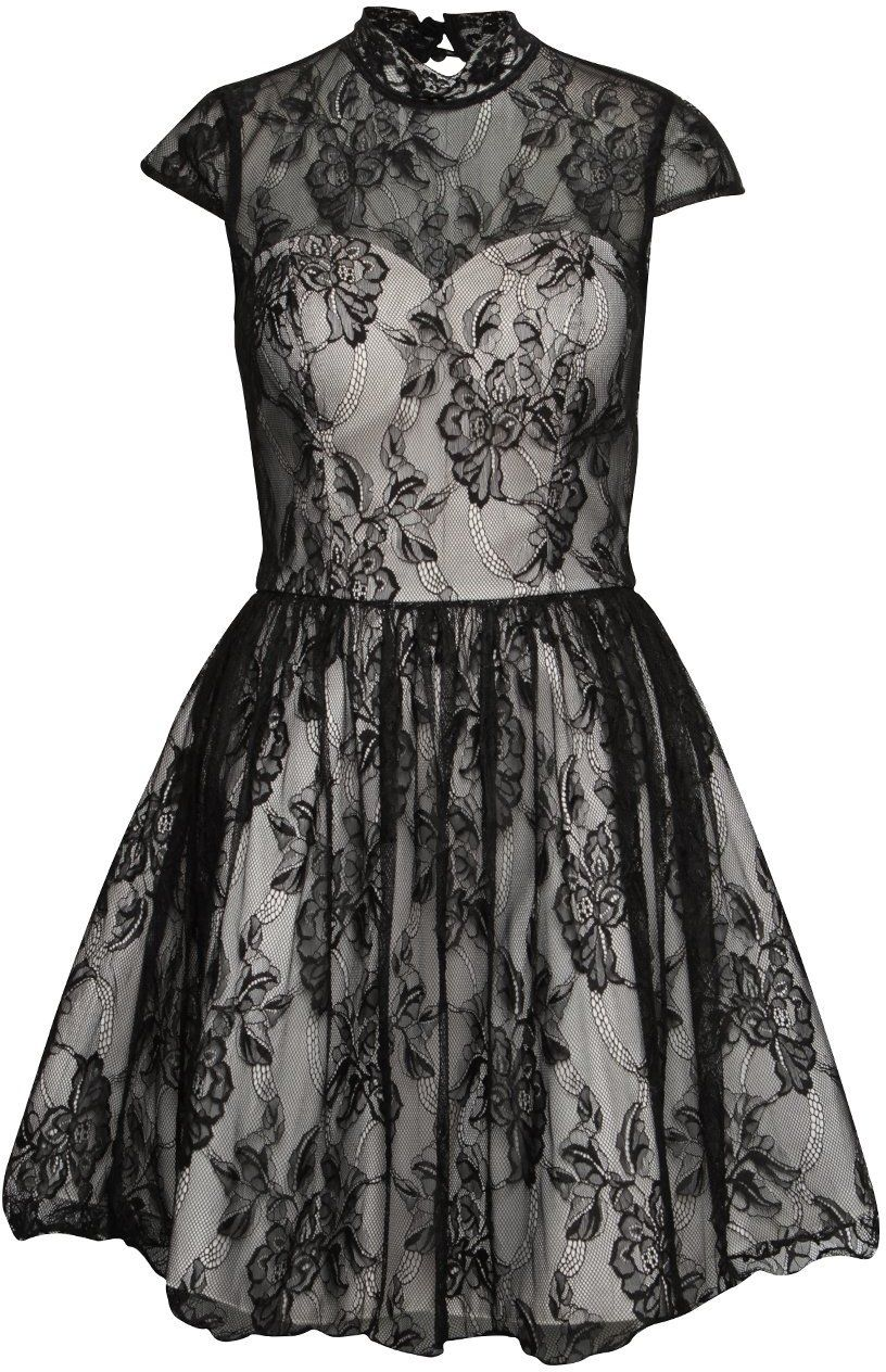 e7effa2756a7 Krémovo-čierne čipkované šaty Chi Chi London Darcy značky Chi Chi London -  Lovely.sk