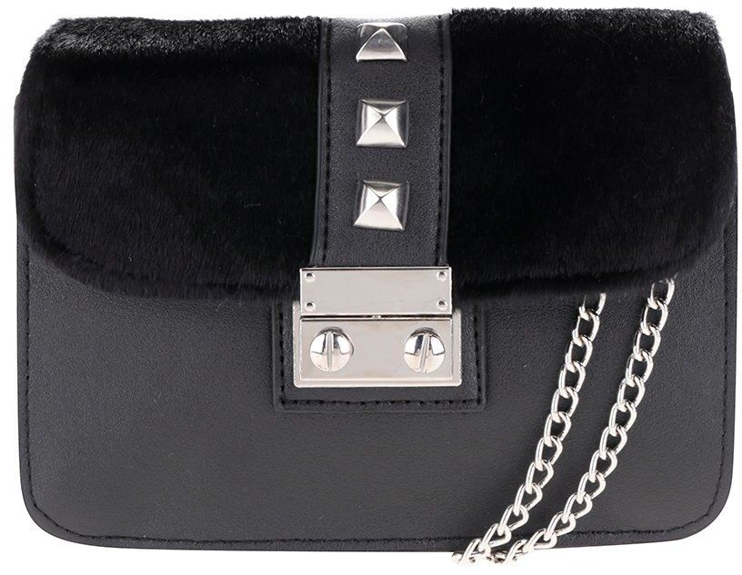 748346ebc5 Čierna malá crossbody kabelka s cvočkami Pieces Diana značky Pieces -  Lovely.sk