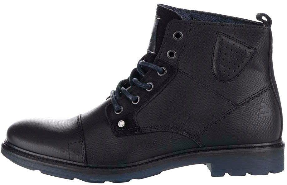 781d52dc50 Čierne pánske kožené členkové topánky Bullboxer značky Bullboxer - Lovely.sk