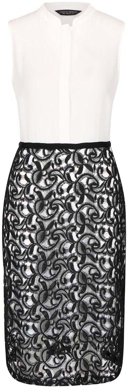 Čierno-biele šaty s čipkou Dorothy Perkins značky Dorothy Perkins -  Lovely.sk cc4b1c7bc18