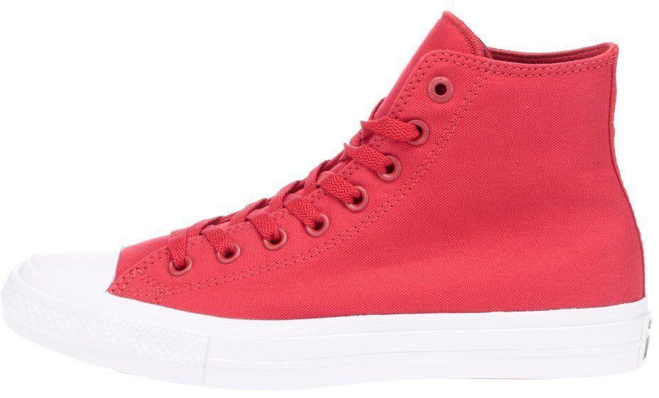Červené unisex členkové tenisky s bielym logom Converse Chuck Taylor All  Star značky Converse - Lovely.sk 6e4b3ebe2b3