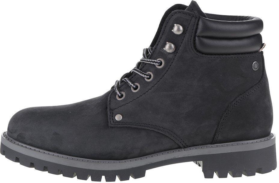 eca401a8aa Čierne kožené členkové zimné topánky Jack   Jones Stoke značky Jack   Jones  - Lovely.sk