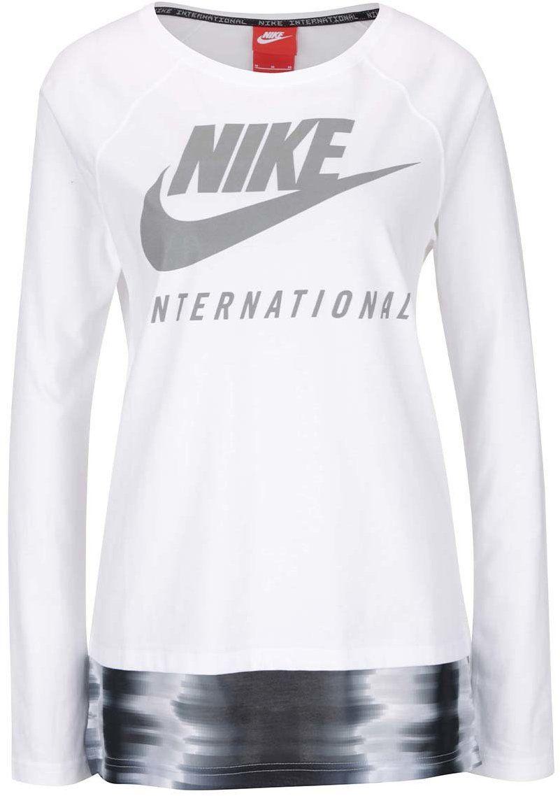 4320e51fed4e Biele dámske tričko s dlhým rukávom Nike International Top značky Nike -  Lovely.sk