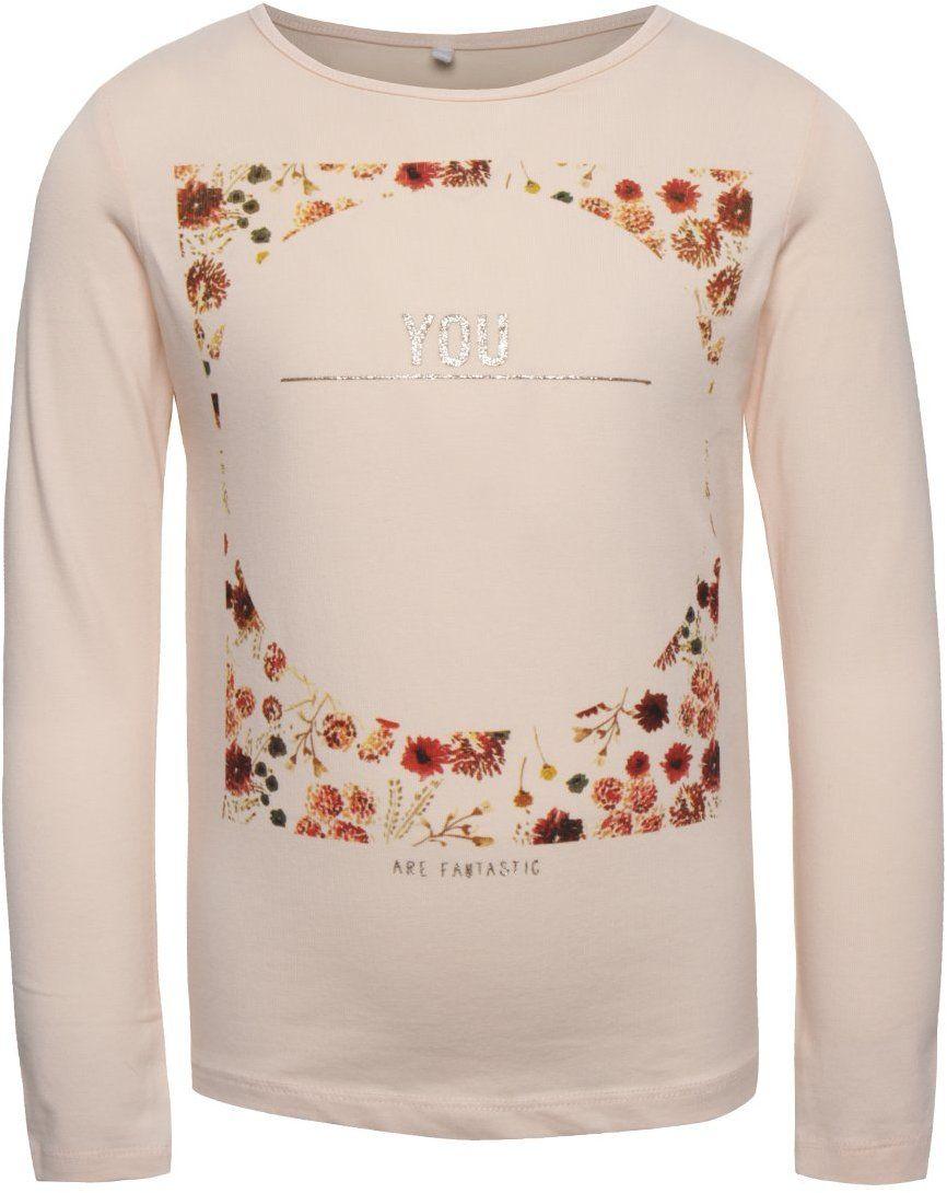aa92da2cb2cf Ružové dievčenské tričko s dlhým rukávom name it Kaja značky name it -  Lovely.sk