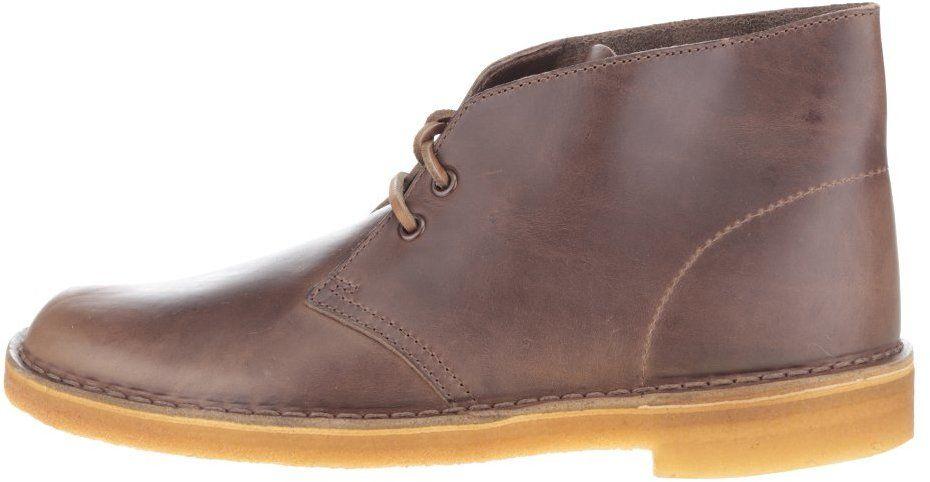 ad77ca9b4c6b Hnedé pánske kožené členkové topánky Clarks Desert Boot značky Clarks -  Lovely.sk