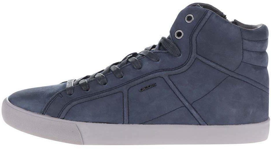 Modré pánske kožené členkové tenisky Geox Smart značky Geox - Lovely.sk 6ba72085b78