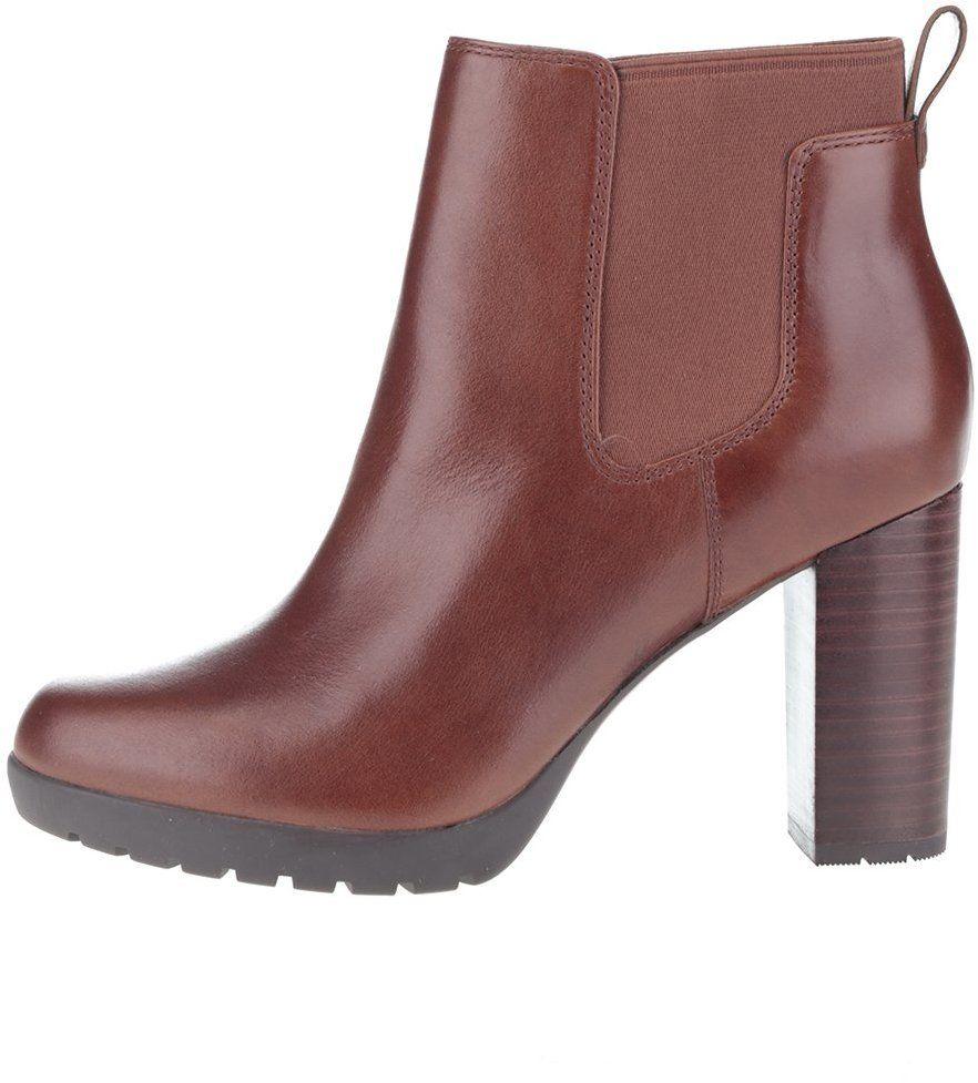 fc863b8d24d0 Tmavohnedé dámske kožené topánky Clarks Elipsa Dee značky Clarks - Lovely.sk