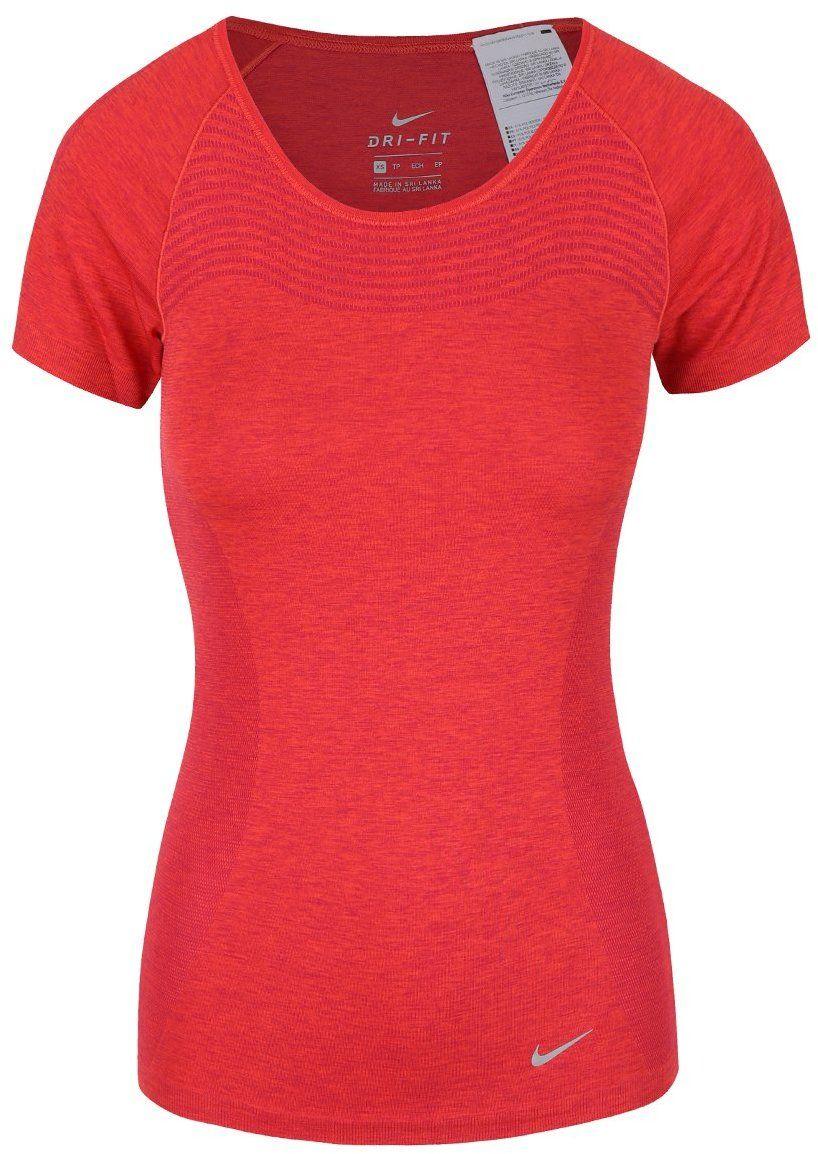Červené dámske tričko Nike Dri-Fit Knit značky Nike - Lovely.sk 161fc94bce3
