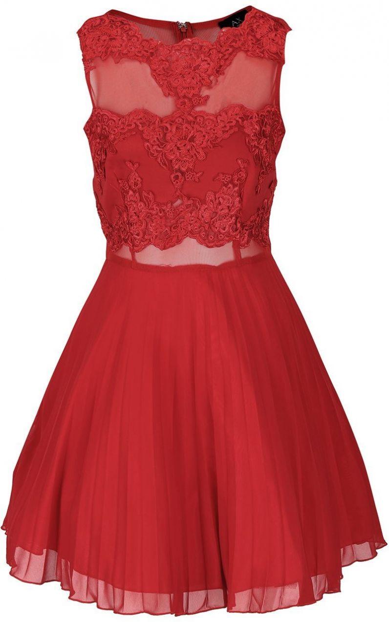 Červené šaty s čipkou AX Paris značky AX Paris - Lovely.sk c49ecf42005