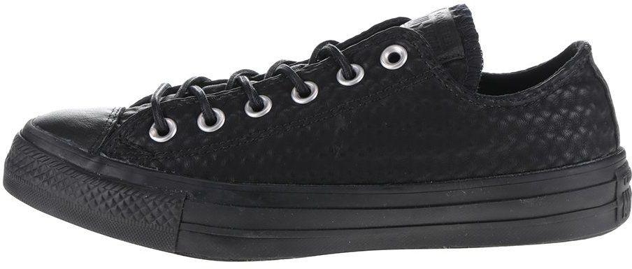 Čierne unisex kožené tenisky Converse Chuck Taylor All Star značky Converse  - Lovely.sk c35851dde8a