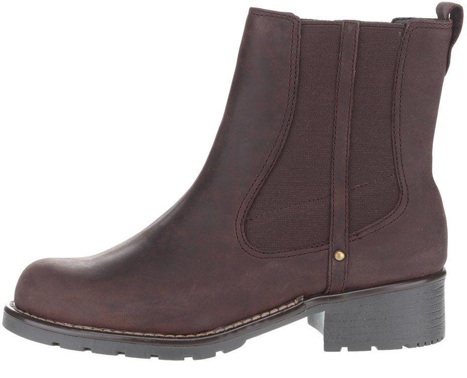 4d685bdbff57 Hnedé dámske kožené členkové topánky Clarks Orinoco Club značky Clarks -  Lovely.sk