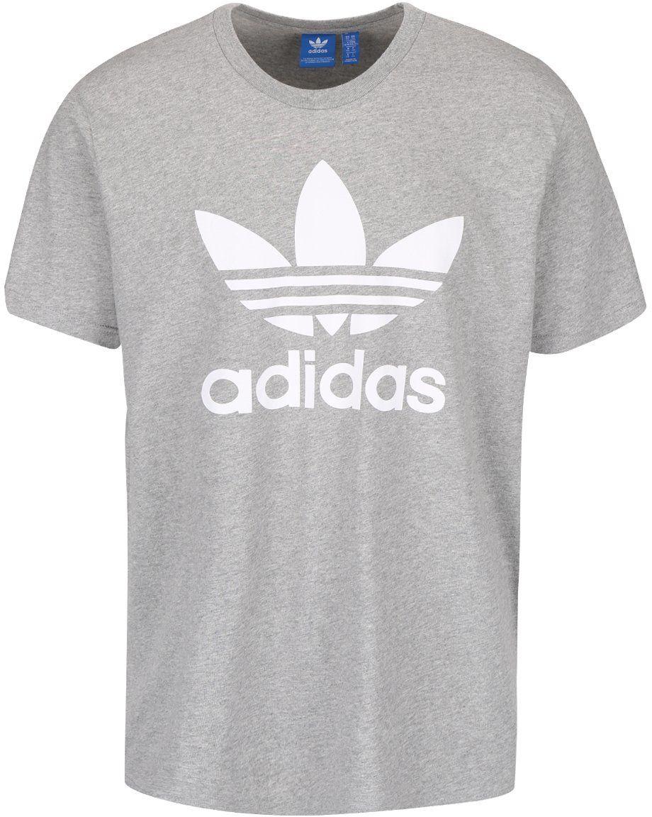 a0a77d10a6ee Sivé pánske tričko s potlačou adidas Originals značky adidas Originals -  Lovely.sk