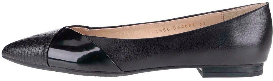 fd48247d62ec8 Čierne dámske kožené baleríny Geox Rhosyn značky Geox - Lovely.sk