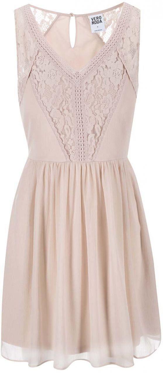 66e5de19da47 Púdrovoružové šaty s čipkou VERO MODA Freja značky Vero Moda - Lovely.sk